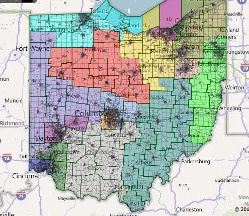 Races And Redistricting October - Us congressional districts ohio map