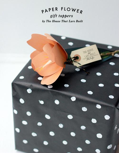 embrulhos e sacolas para presentes Orange-tulip-wrapping