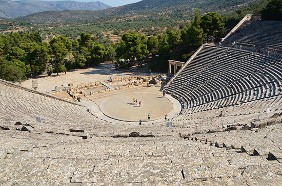 Photo of the ancient theater of Epidaurus, Greece by Jack G