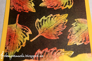 Technique BlogHop stampinwithfanny vintage leaves Herbst