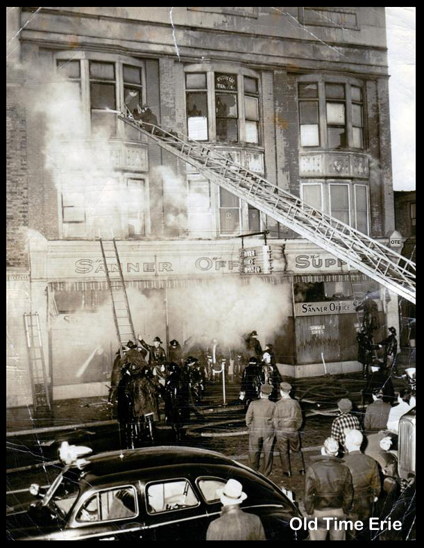 Charmant Sanner Office Supply Fire 1949 Erie PA