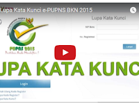 Video Tutorial Lupa Kata Kunci e-PUPNS BKN 2015