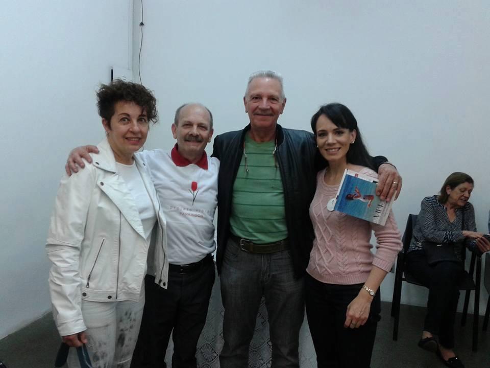 Dèsirée Valtorta e Carlo Pietro Valtorta com Manoel e Danielle Ianzer
