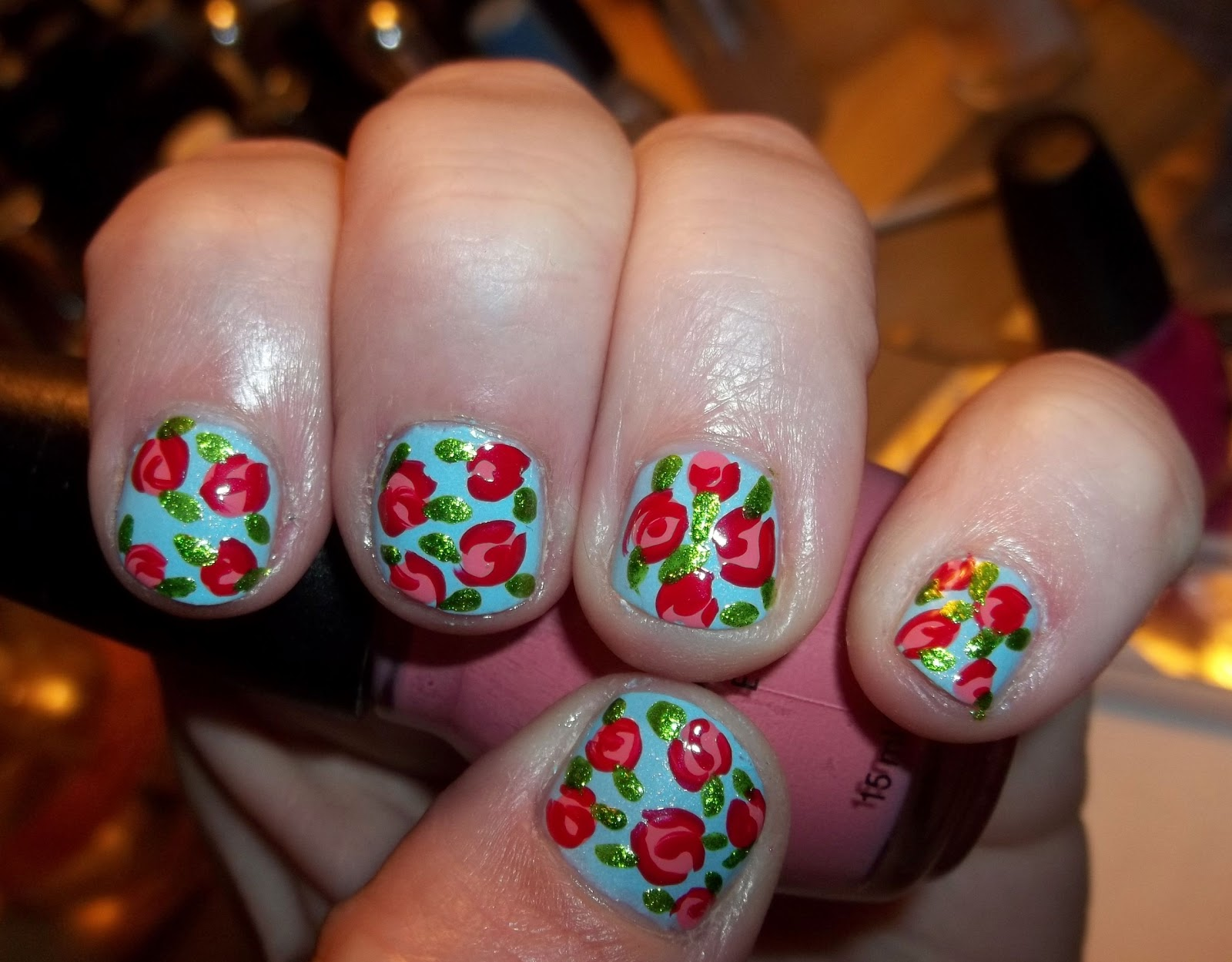 Nails Actually: Youtube Inspiration: CutePolish\'s Vintage Rose Tutorial