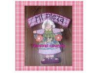 Cartel country para niña