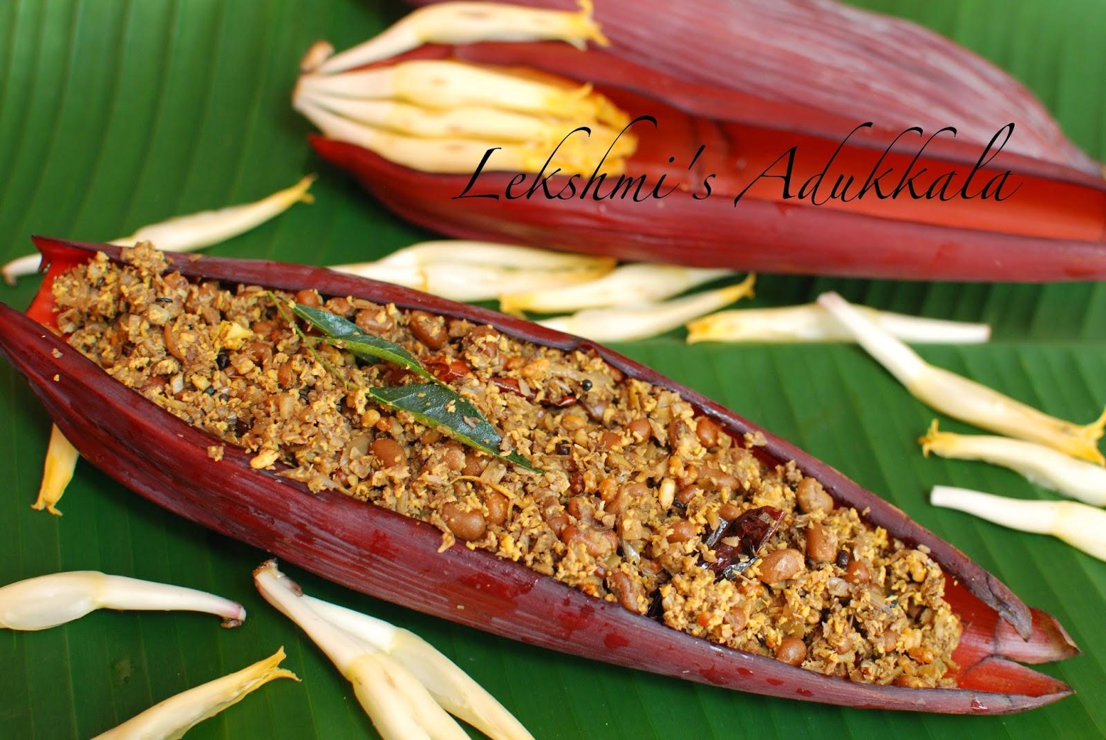 Lekshmi s Adukkala Vazhakoombu Thoran Banana Flower Thoran