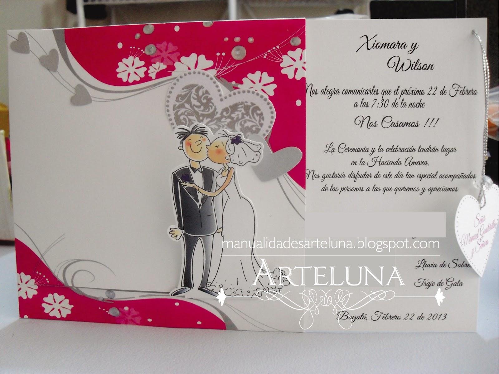 Arte luna tarjetas de matrimonio - Modelos de tarjetas de boda ...
