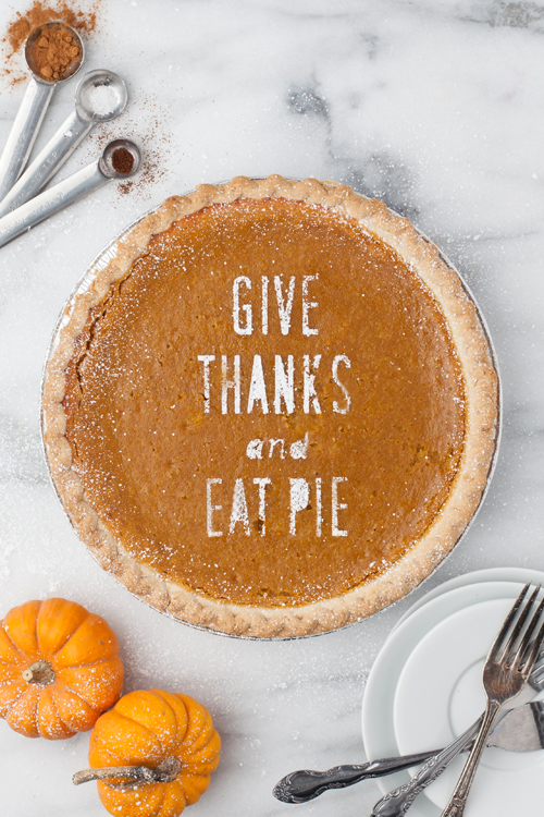 Give Thanks and Eat Pie pie stencil. Available with Cricut ready file.