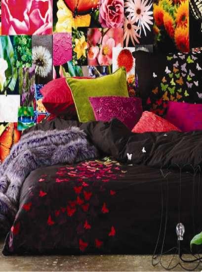 DORMITORIO PARA ADOLESCENTE CON MARIPOSAS via www.dormitorios.blogspot.com