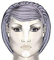 Макияж для круглого лица с голубыми глазами
