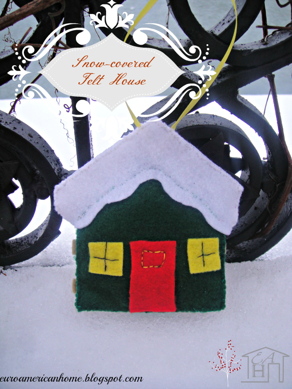 snow covered felt house craft