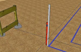 Les points d'angles sont déterminés et les fouilles tracées