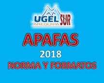 APAFA 2018 NORMA Y FORMATOS