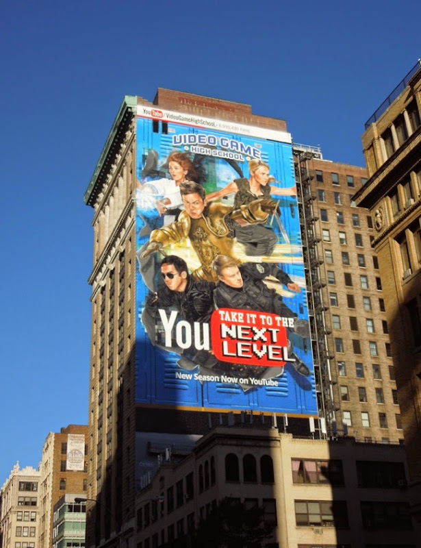 Giant Video Game High School season 3 You Tube billboard NYC