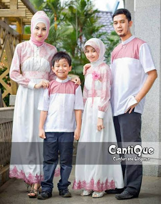 Koleksi Busana Muslim Sarimbit Modern Warna Kalem