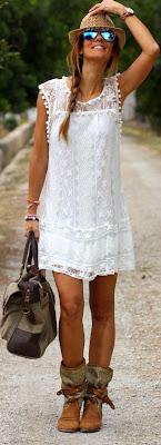 Look botins com calções, saias e vestidos anakle boots  -  tendencia verão 2015