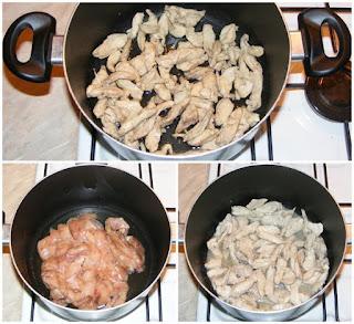 piept de pui prajit pentru mancarea de pui cu ardei si susan, retete culinare, retete de mancare, retete cu pui, preparate din pui, retete culinare cu piept de pui, preparate culinare din piept de pui, carne de pui prajita, piept de pui la tigaie, pui prajit,