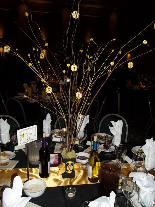 Fabulous army life brigade ball table decorations for Ball decoration ideas
