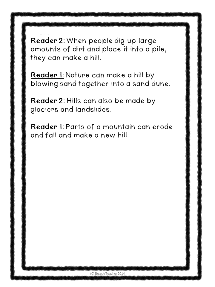 http://www.teacherspayteachers.com/Product/Science-Readers-Theater-Landforms-Water-Cycle-Bundle-1391437