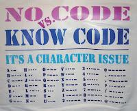 morse code supporter T-shirt