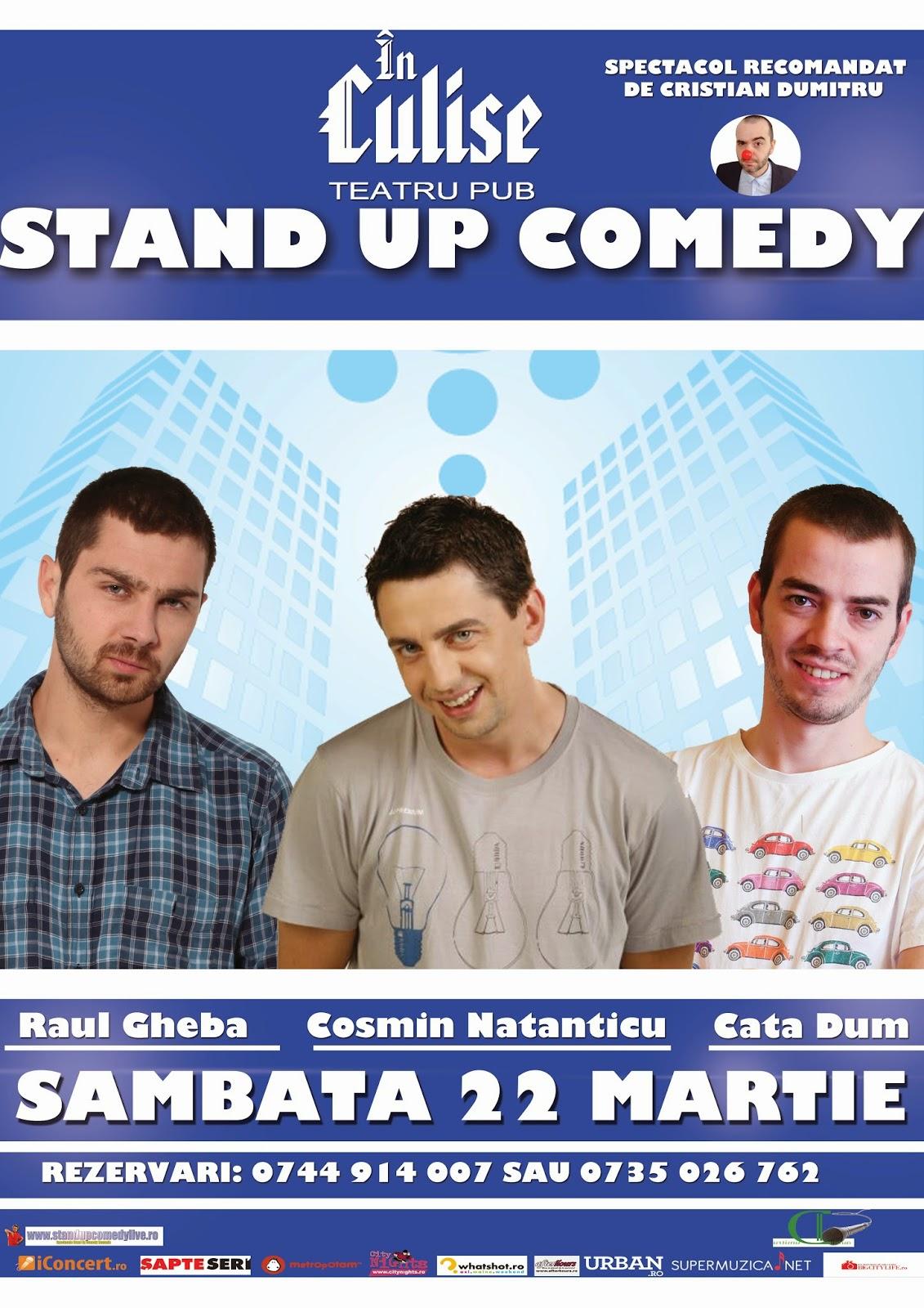 stand-up comedy sambata 22 martie bucuresti romania