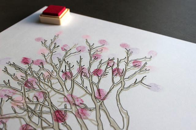 detalles de boda árbol de huellas hermanas bolena
