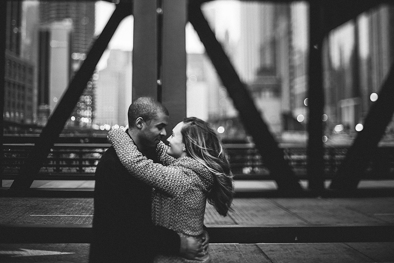 Downtown Chicago Loop Engagement Photo