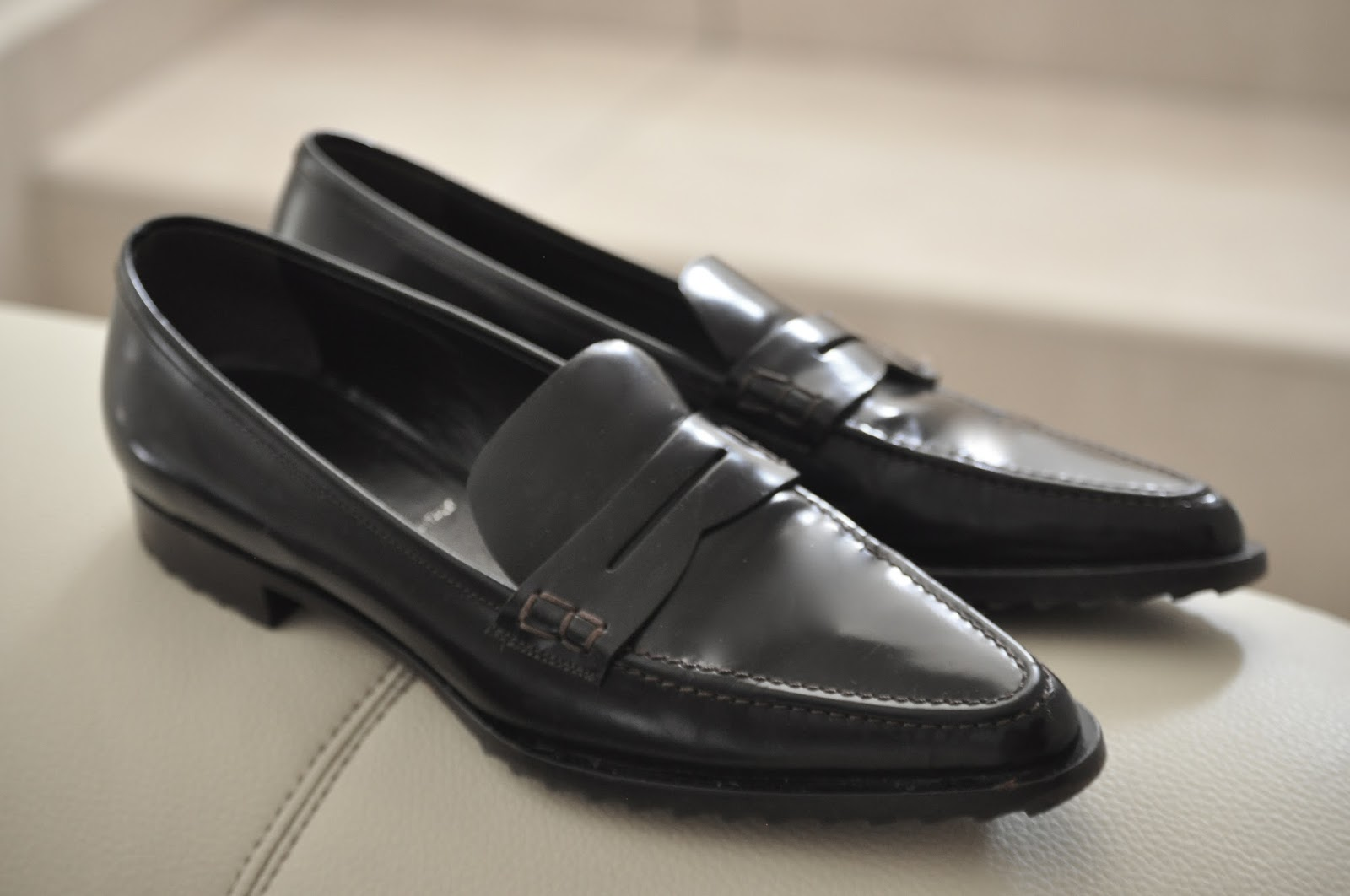 Jil Sander pointed toe loafers