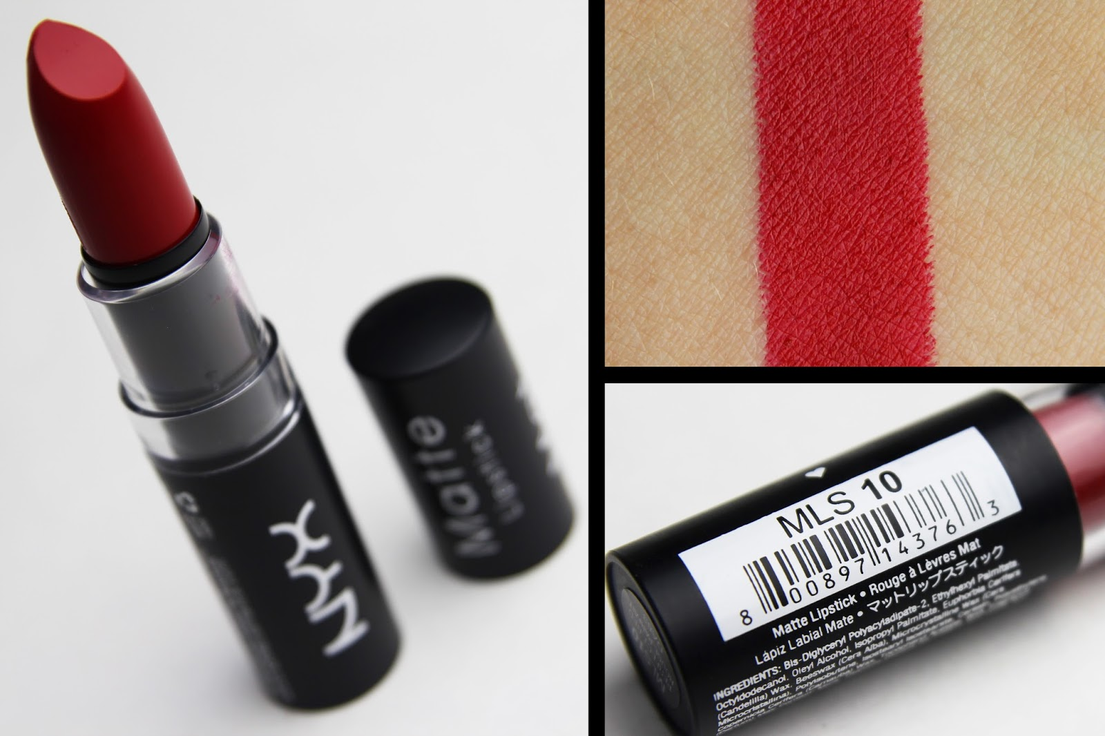 AndreaMarie - YT: NYX Matte Lipstick in Perfect Red || Review