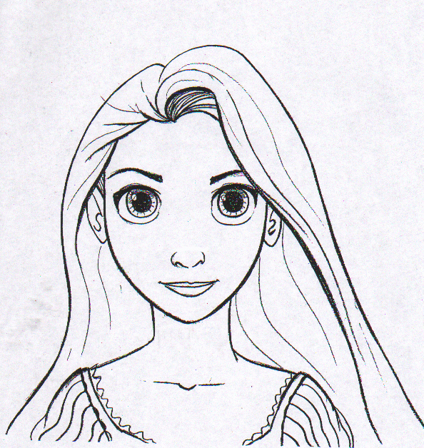 free coloring pages of rapunzel