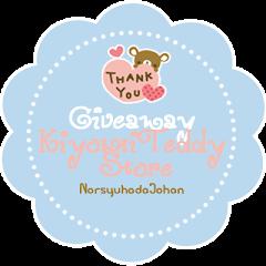 Giveaway Kiyomi Teddy Store by Norsyuhada Binti Johan