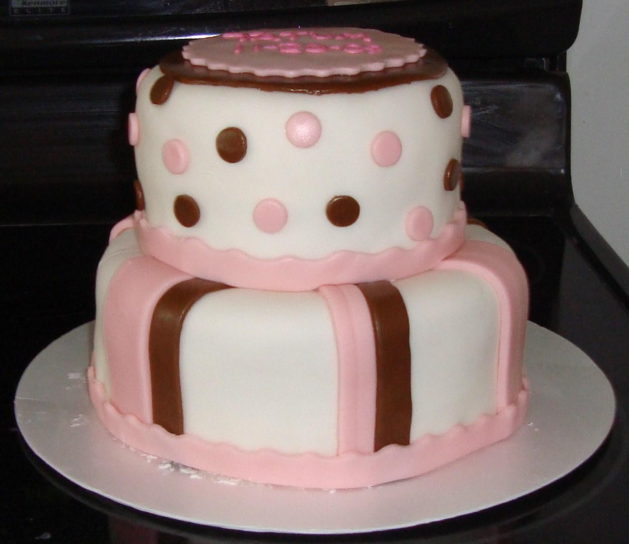 Cakes By Alissa: Baby Shower Cake for Baby Tatum November 2009