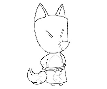 #1 Animal Crossing Coloring Page