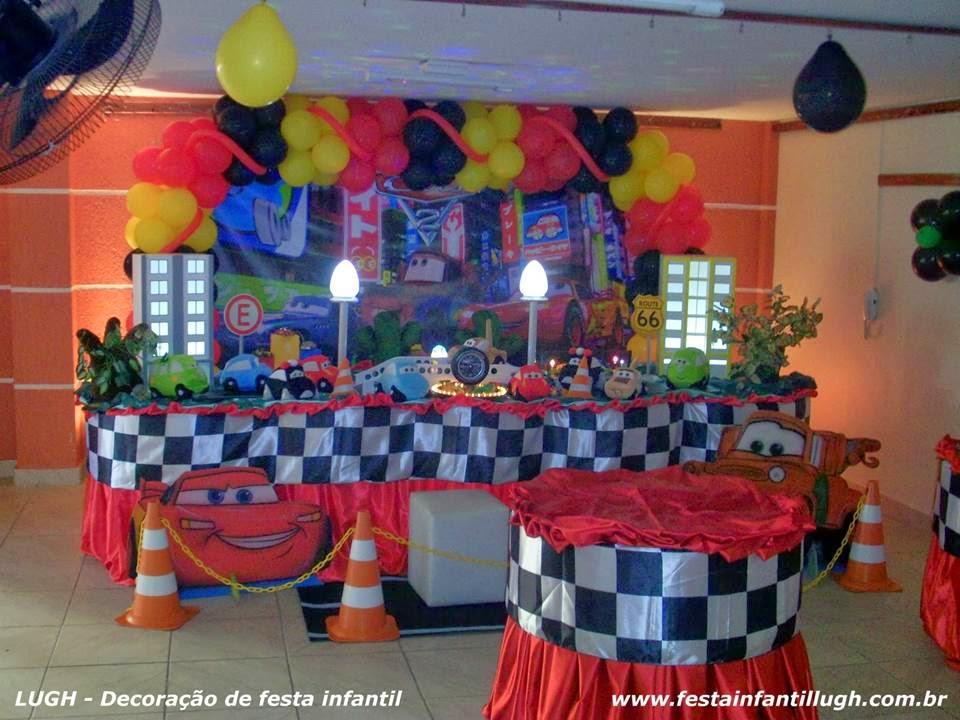 Tema Carros para decoração de festa infantil