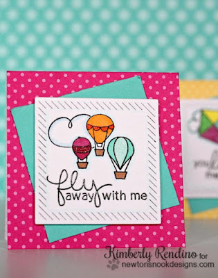 Hot Air Balloon Lunchbox Notes by Kimberly Rendino | Stamps by Newton's Nook Designs