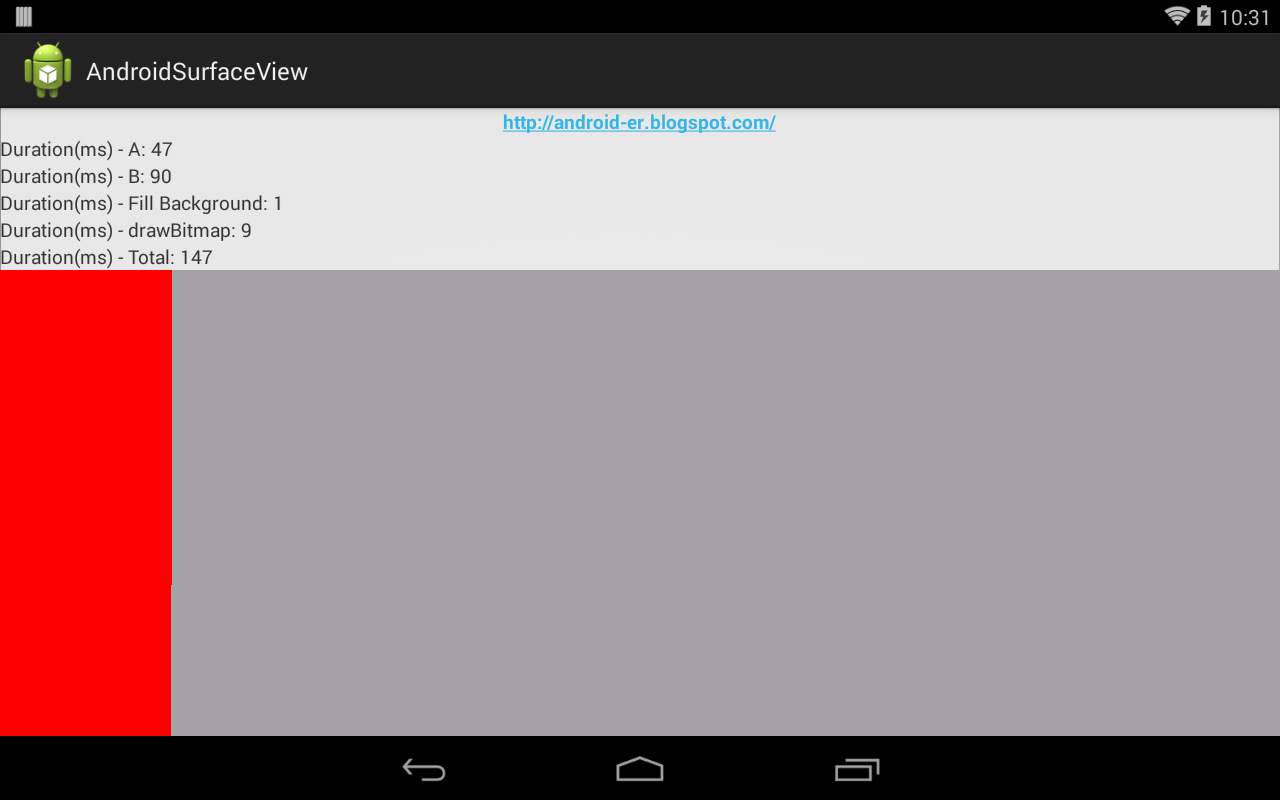Android canvas surfaceview example
