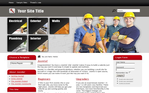 Free Grey Chrome Business Joomla Theme Template