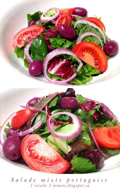 1 recette italienne salade verte portugaise. Black Bedroom Furniture Sets. Home Design Ideas