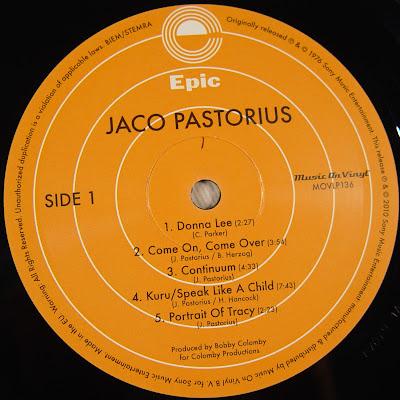 Jaco Pastorius - Jaco Pastorius (24-bit/96khz Vinyl)