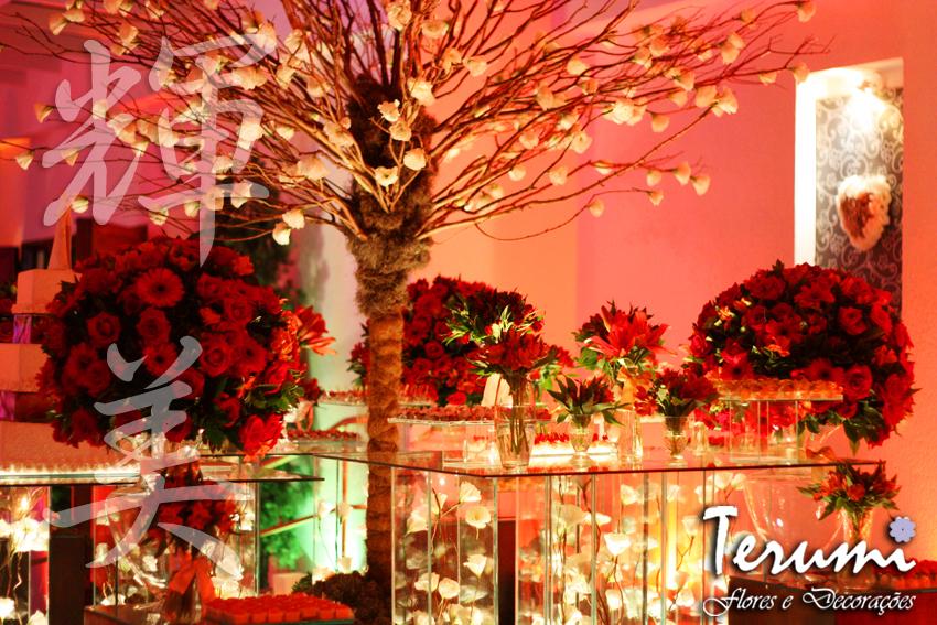 casamento jardim viena:Jardim Viena – Decoração vermelha com muitas velas!!