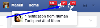 message notification on facebook