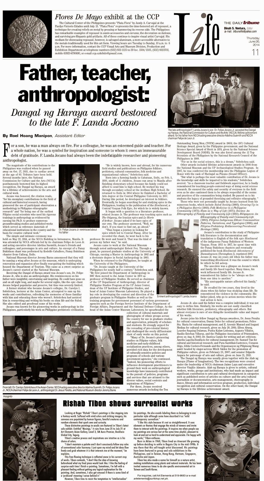 felipe landa jocano Most widely held works by f landa jocano growing up in a philippine barrio by f landa jocano ( book.