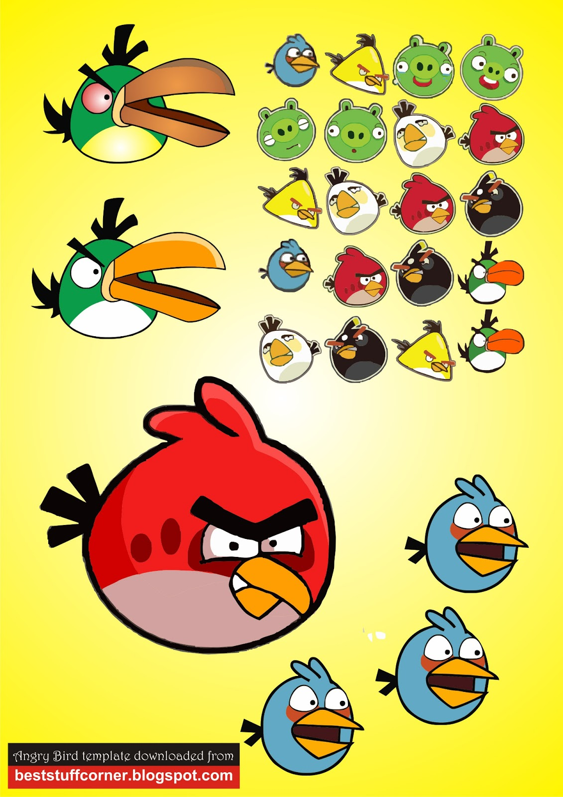 best stuff corner free angry bird vector image template