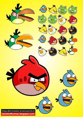 To Download this Angry Bird vector template in CDR | EPS | AI format ...