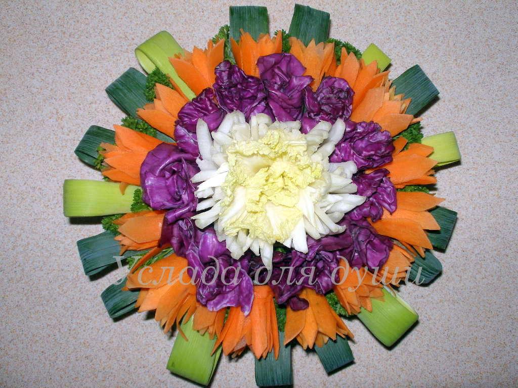 души: Поделки из овощей. Цветок лета