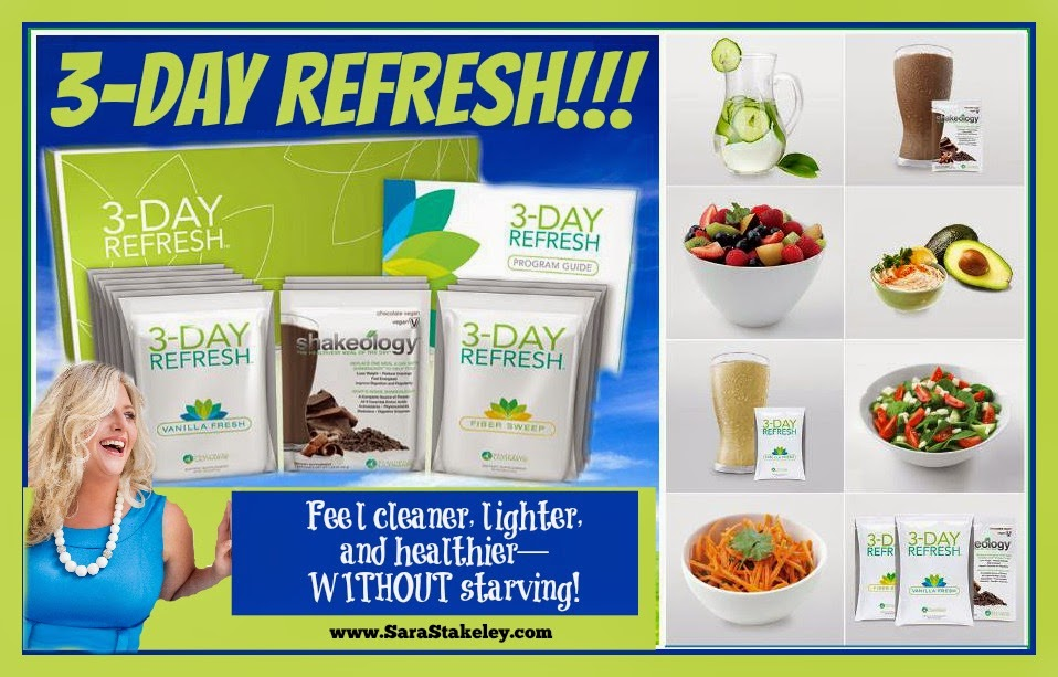 Beachbody, 3-Day Refresh, Shakeology, Sara Stakeley, Sarastakeley.com, eat to lose weight, lose the last 10 pounds, Beachbody Challenge, Jump start your weight loss ,