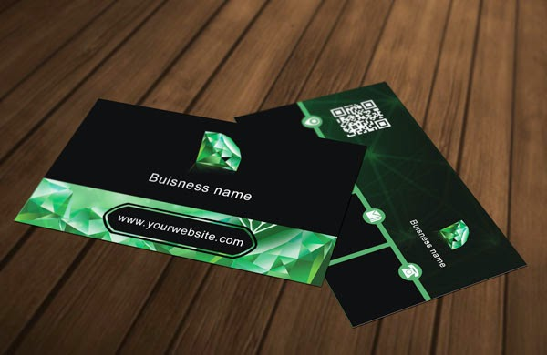 Diamond Business Card PSD Template