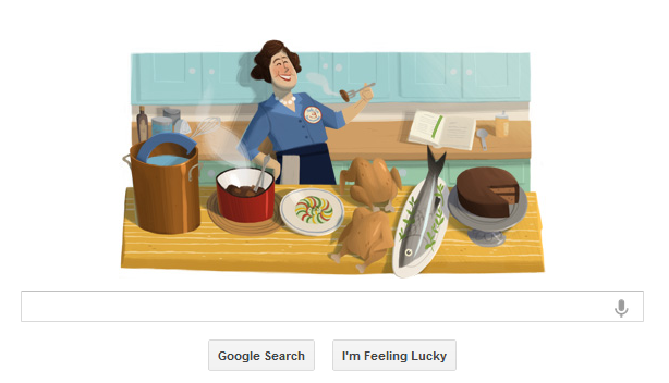 Julia Child's google doodle