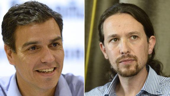 Pedro Sánchez y Pablo Iglesias dicen que dejarán los pactos en manos de los candidatos - sanchez-iglesias