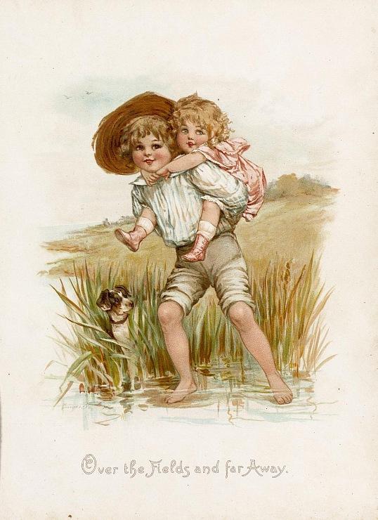 Красивые старинные открытки с детьми
